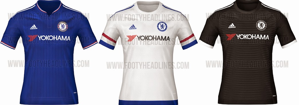 96cde42c3 World   Chelsea 2015-16 Home Away Third Kits (Leaked)