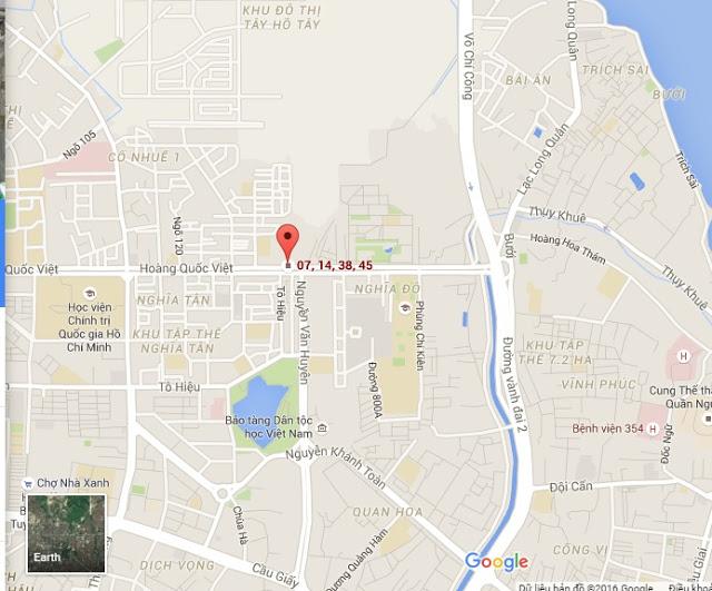 Vị trí dự án chung cư 60 Hoàng Quốc Việt.