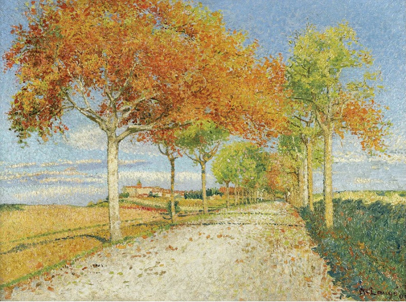 Achille Laugé - The Road of Cailhau, 1909