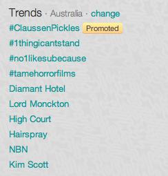 twitter trending screenshot
