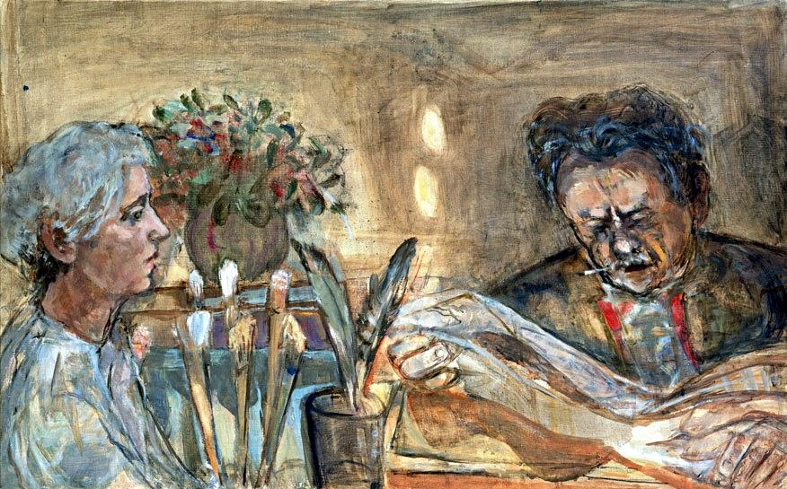 Автопортрет М-Л фон Мотесицки с Канетти