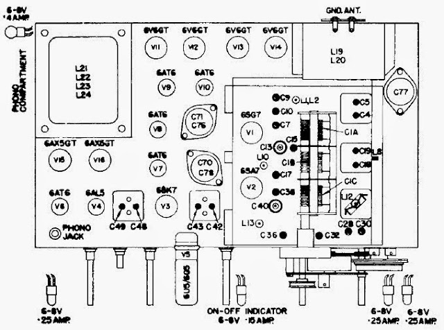 1954 Philips 7782 Canadian Antique Radio Repair Retrovoltage. By Looking At The Schematic This Is Really A Nicebutprettywellsettledtechnology Radio Receiver Coupled To Very Highend Mono Lifier. Wiring. Philips Tube Radio Schematics At Scoala.co