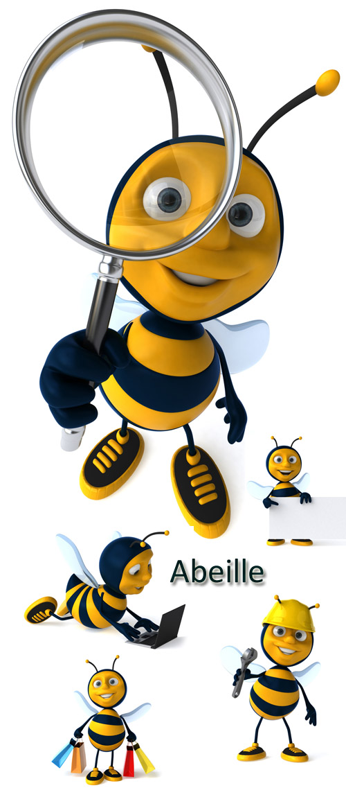 Stock Photo: Abeille