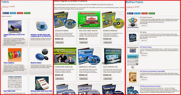 WordPress Shopping Cart Plugin - WPeStore Shop Layout