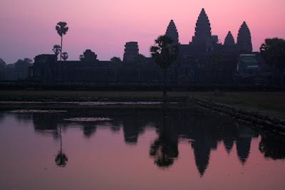 Angkor Wat at sunrise in Cambodia