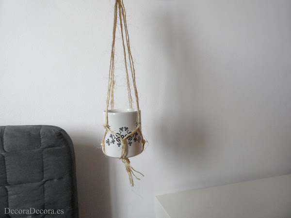 Decorar con macramé.