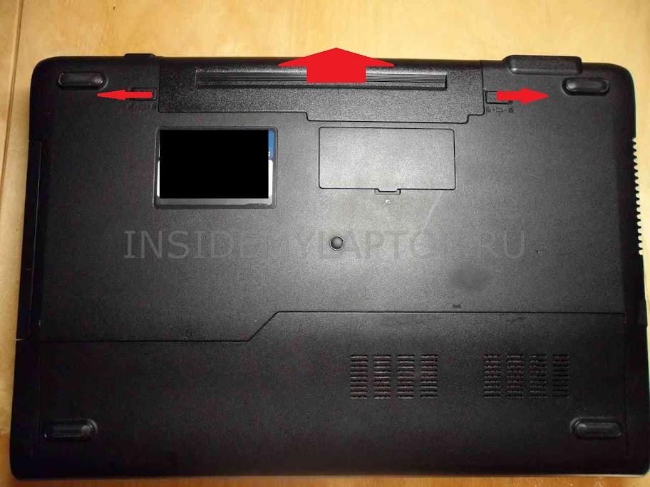 Как разобрать ноутбук Asus N53J - Отключаем блок питания
