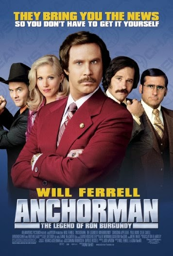 Poster Of Anchorman: The Legend of Ron Burgundy (2004) Full Movie Hindi Dubbed Free Download Watch Online At Alldownloads4u.Com