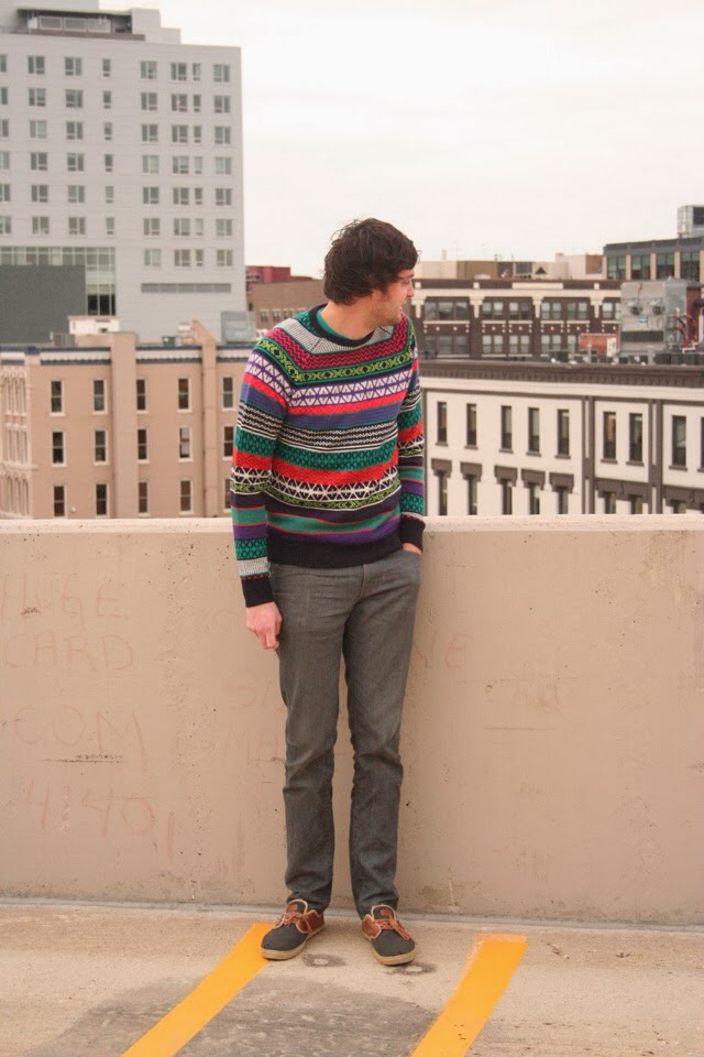 mes sweater, h&m sweater, mens aztec sweater, mens style