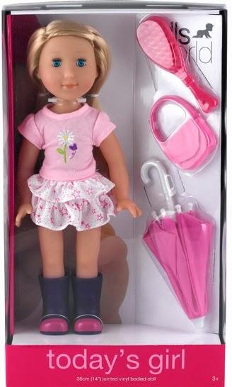 Búp bê Dolls World Cô nàng hiện đại DW8743 cai khoảng 36 cm, được làm từ chất liệu nhựa Vinyl an toàn tuyệt đối