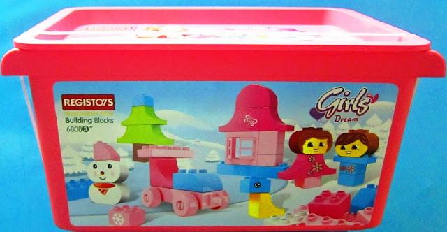 Đồ chơi Xếp hình Regis 6809 Girls dream - Thú cưng đi kèm với hộp đựng rất gọn gàng tiện dụng