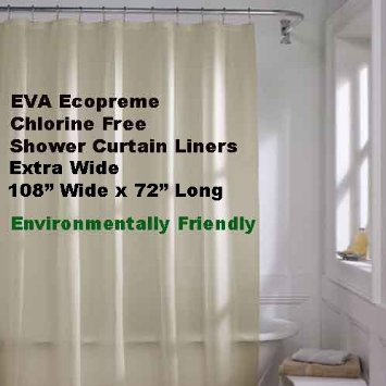 Frosty Clear Eva Ecopreme Non Toxic Extra Wide Shower Curtain Liners