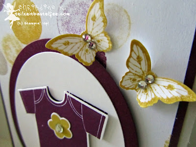 stampin up, something for baby, alles für's baby, papillon potpourri, moonlight, mondschein, schmetterling, butterfly