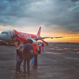sun rise at senai airport