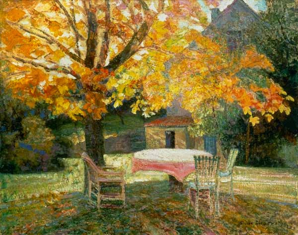 Victor Charreton - Dans le jardin, en automn