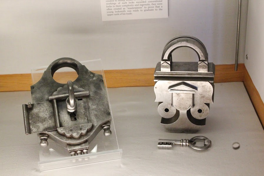Locks from the Slocum Puzzle Collection in the Lilly Library