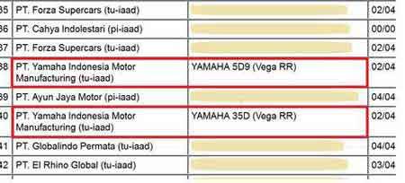 motor terbaru yamaha vega