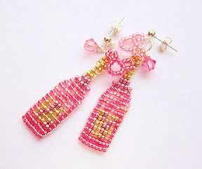 Pink Champagne Girls Earrings