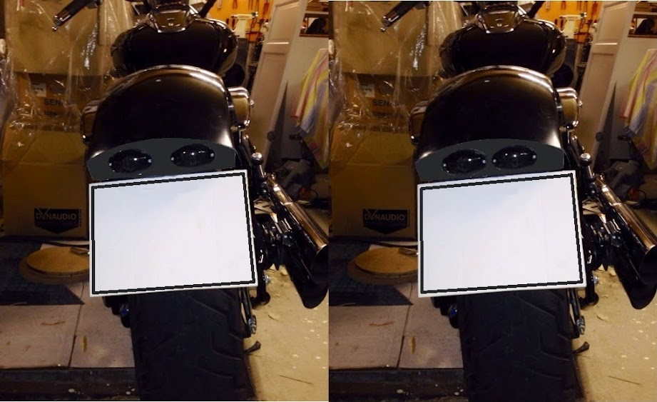 Custom fiberglass rear fender for M800 Rearlight