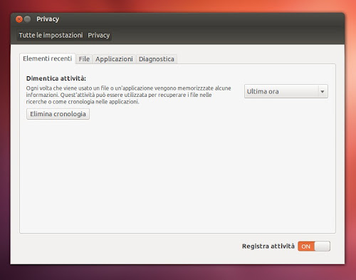 Ubuntu 12.10 - Privacy
