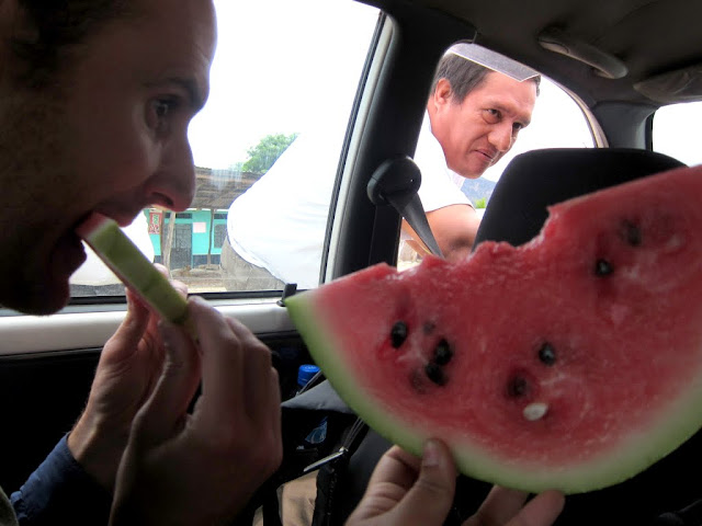 Watermelon snack stop