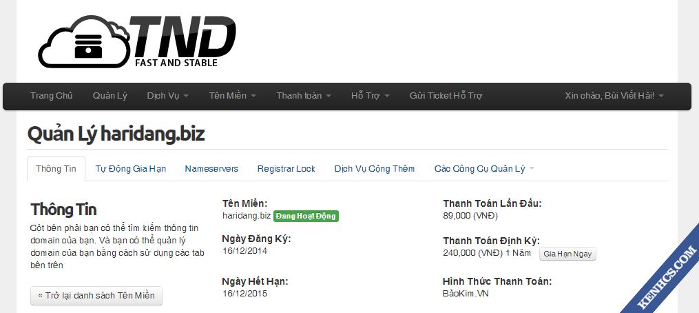 Trỏ tên miền từ TND về blogspot