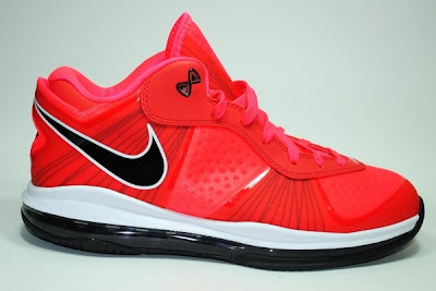 Discount Buy Nike LeBron ST Low 534846-600 Solar Red Black White
