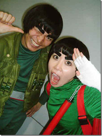 naruto cosplay - might guy and rock lee