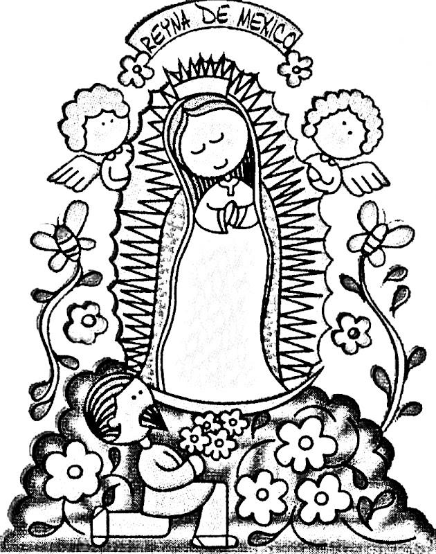 La Virgen De Guadalupe Para Colorear Imagenes De La Virgen De Guadalupe Para Colorear