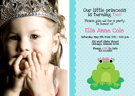 New Birthday Invitation Photoshop Templates - Frog Princesses!
