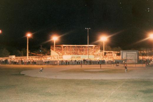 Asistencia al parque Daniel Guadiana durante el campeonato nacional menor 1986