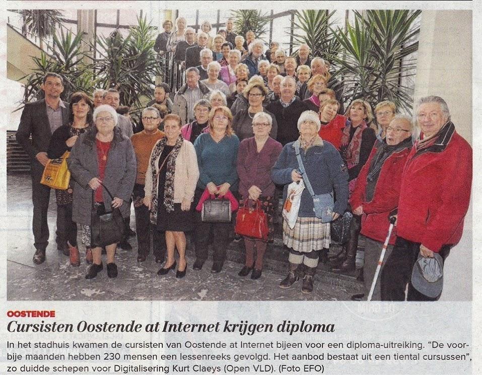 cursisten Oostende@internet ontvangen diploma