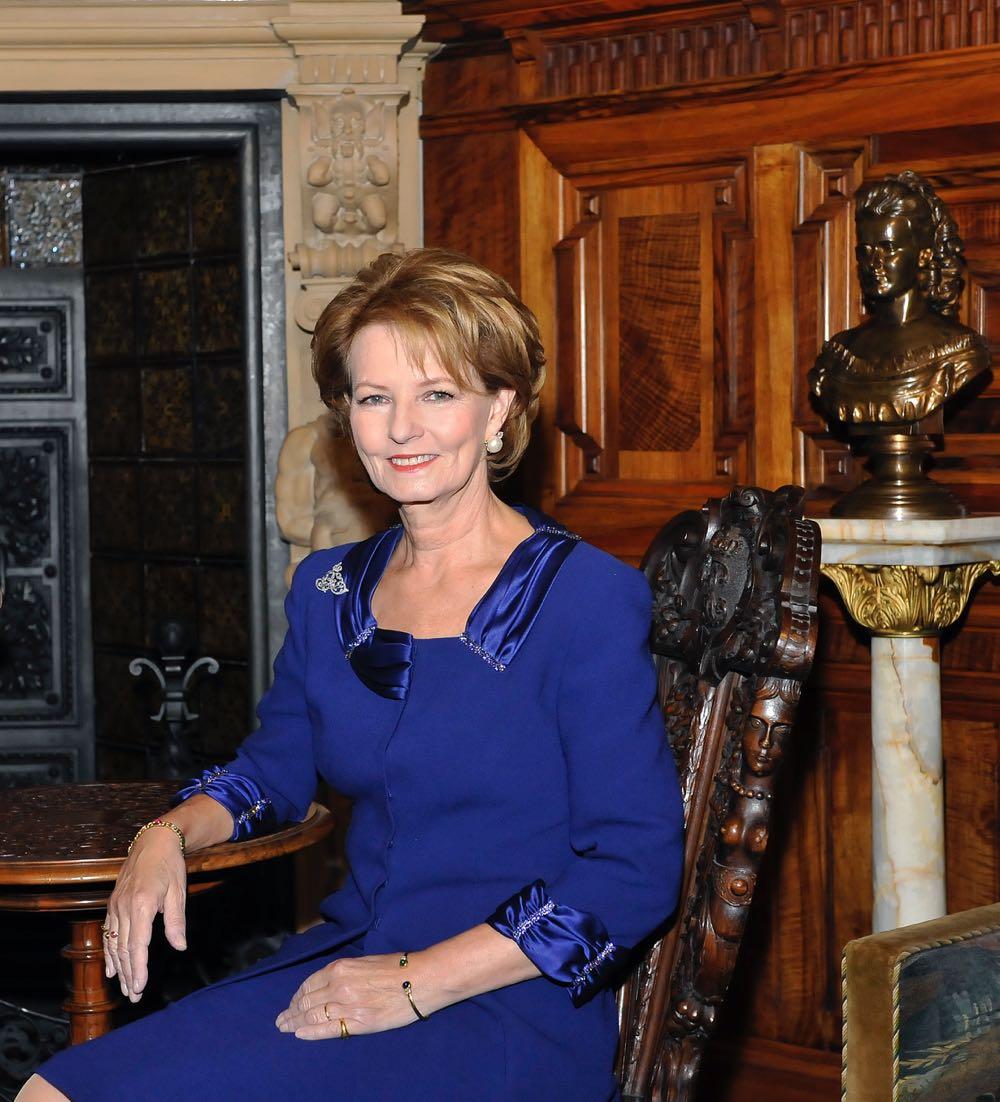 Principesa Margareta a României, rochie albastră