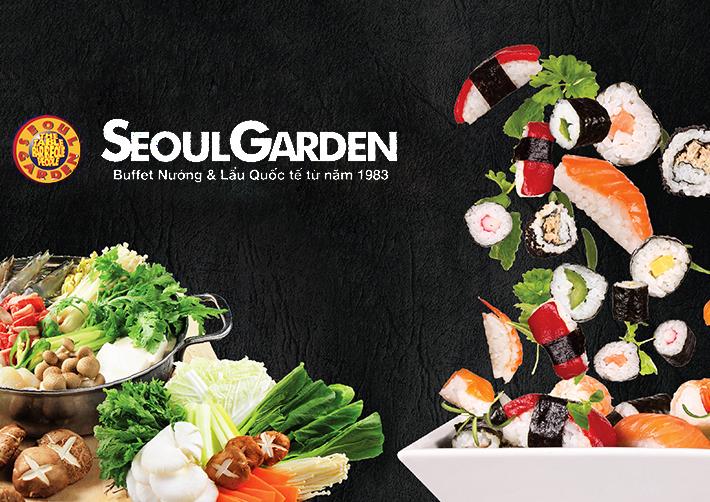 Voucher Buffet Lẩu Và Nướng Không Khói Ăn Thả Ga Gần 200 Món Tại Seoul Garden