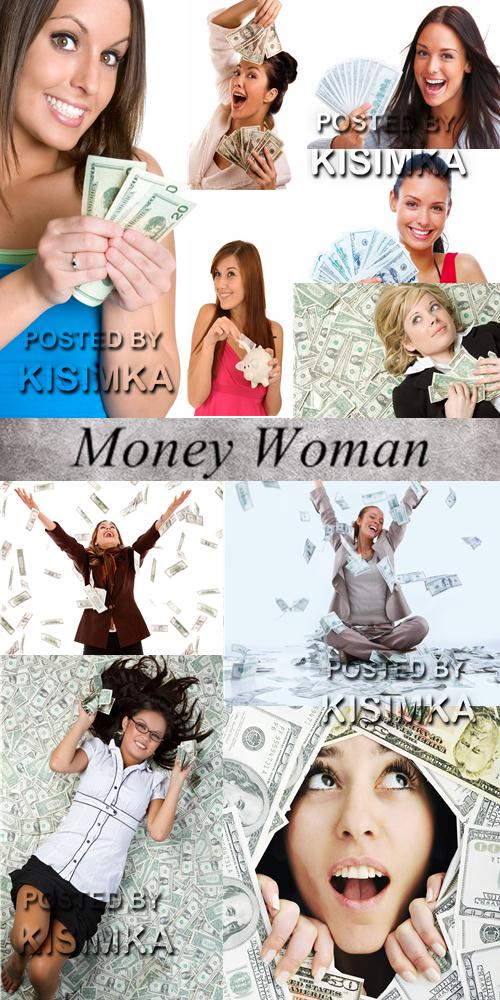 Stock Photo: Money Woman