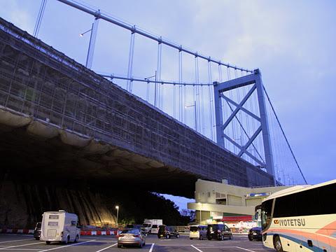 工事中の関門橋(H26.08.17)
