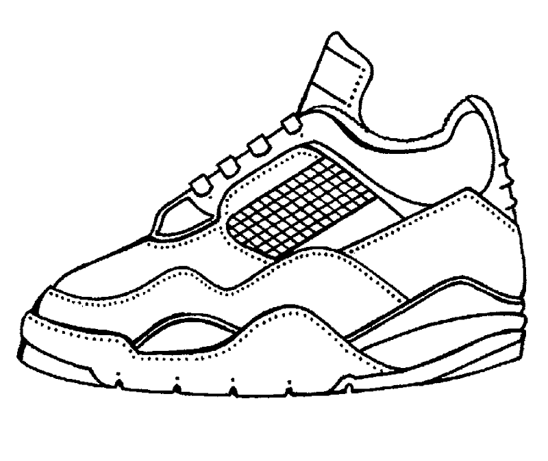 Tennis Sneakers, free coloring pages