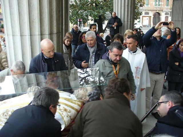 arrivo dell'urna con le reliquie di san Giovanni Bosco nel Duomo di San Donà di Piave