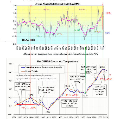 Amo CYCLE AND GLOBAL TEMP