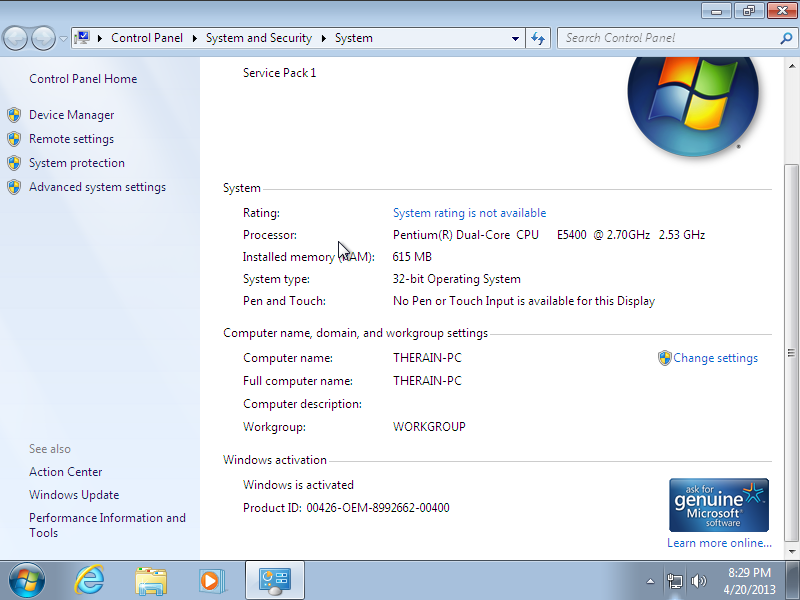 Screenshot 1 of Windows 7 Ultimate SP1 IE10 + RUS-ENG x86-x64 Activated Operating System PC Software Free Download at Alldownloads4u.Com