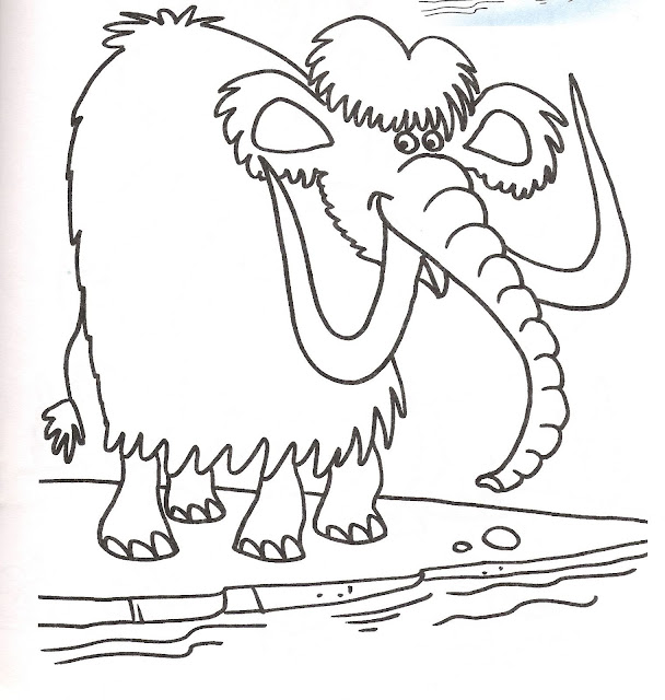 Mammoth coloring pages