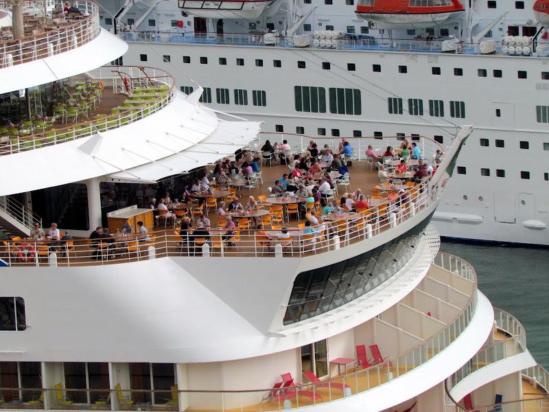 sepeaking on board in Funchal port