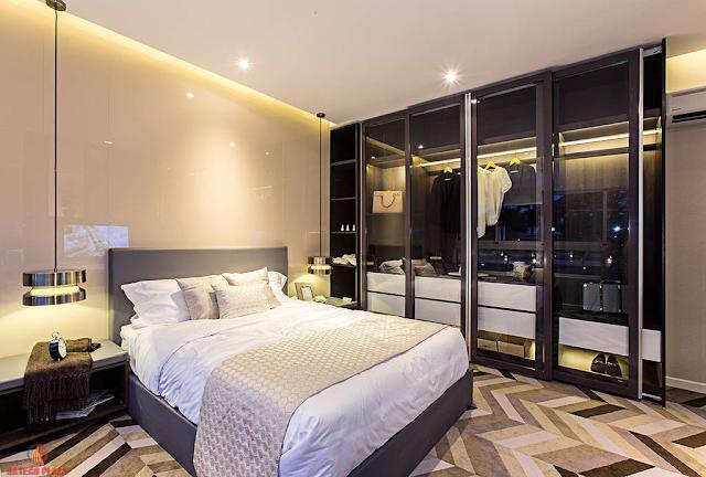 Phòng ngủ chung cư 4A Huỳnh Thúc Kháng