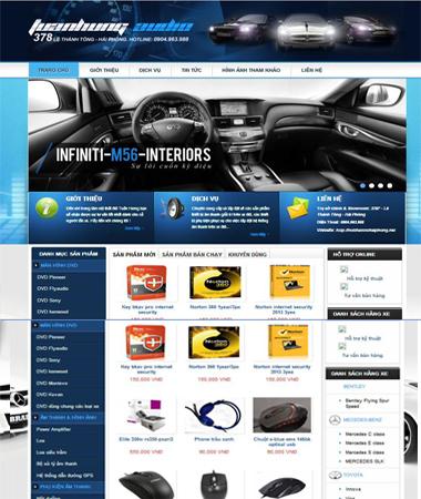 Chia sẻ template blogspot bán hàng điện tử mới nhất