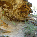 Circular patterns in sandstone cave west of Berowra Heights (353327)