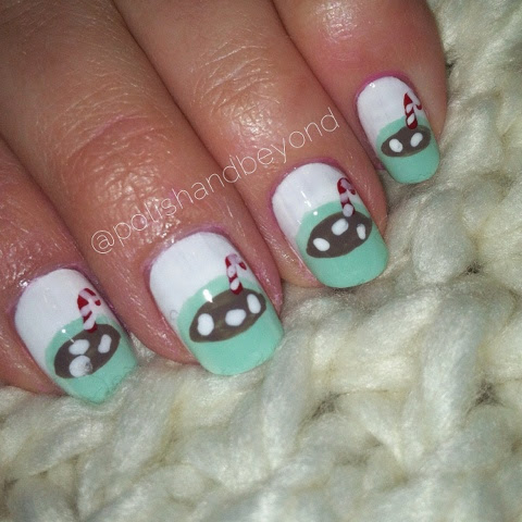 Polish And Beyond Hot Chocolate Nail Art