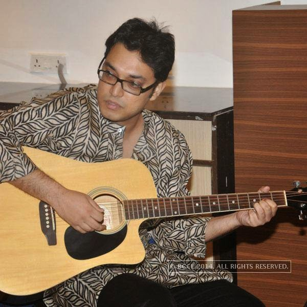 Anupam Roy at the music release of the film HIgh Way, in Kolkata.