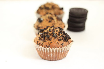 close-up photo of a Oreo muffins