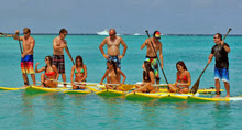J/24 sailors in paddleboard race to determine who wins!