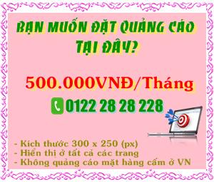 Quảng cáo trên Thái Dúi Blog